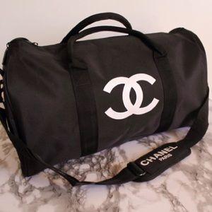 Auth Chanel VIP Gym Sport Duffle Travel Bag